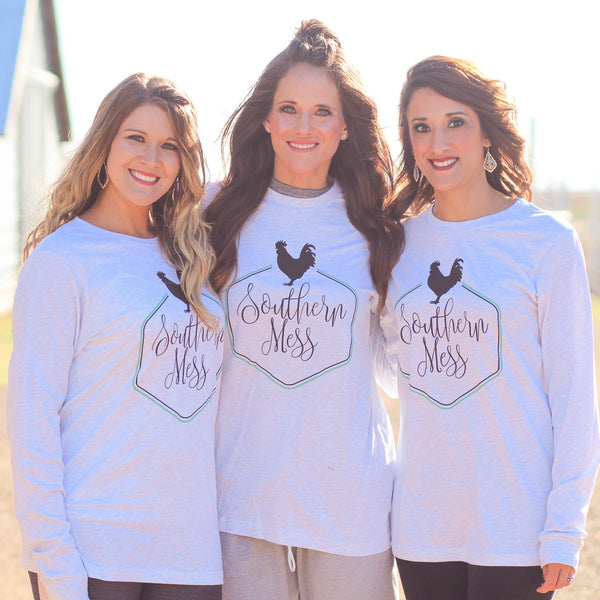 Southern Mess Logo Long Sleeve - Southern Mess Boutique