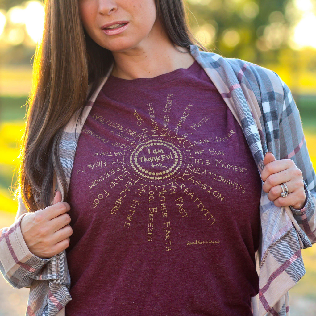 Thankful For Long Sleeve Unisex Fit Tee - Southern Mess Boutique
