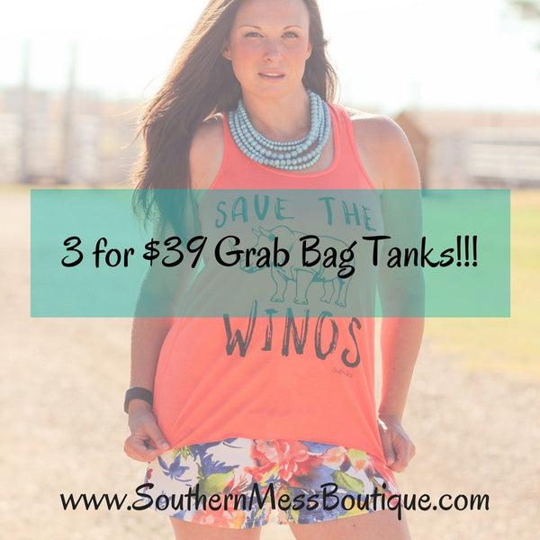 3 for $39 Grab Bag Tanks - Southern Mess Boutique