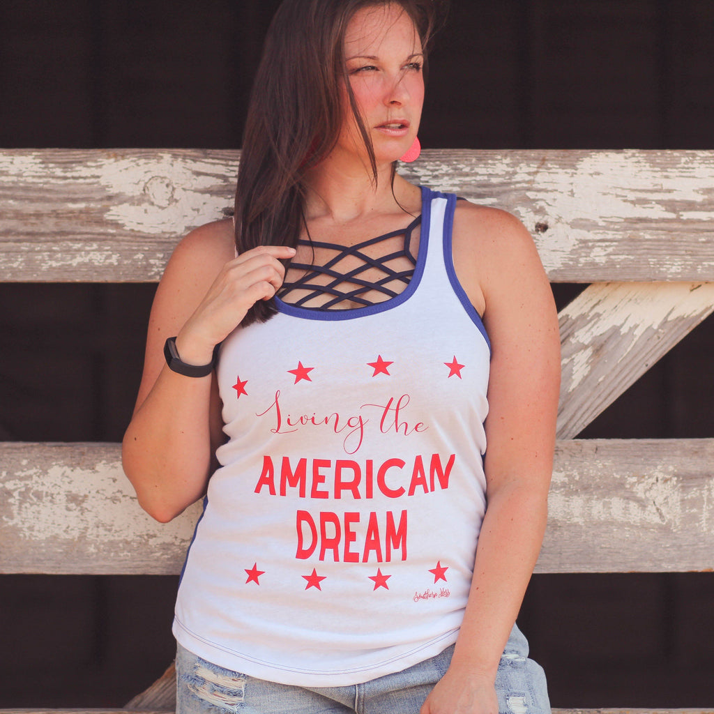 American Dream Graphic Tank - Southern Mess Boutique