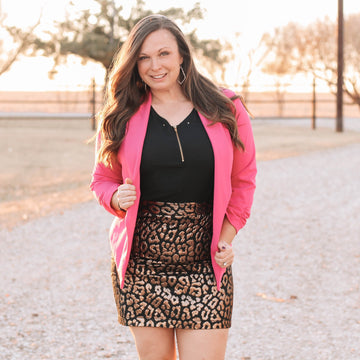 Holly Metallic Leopard Skirt