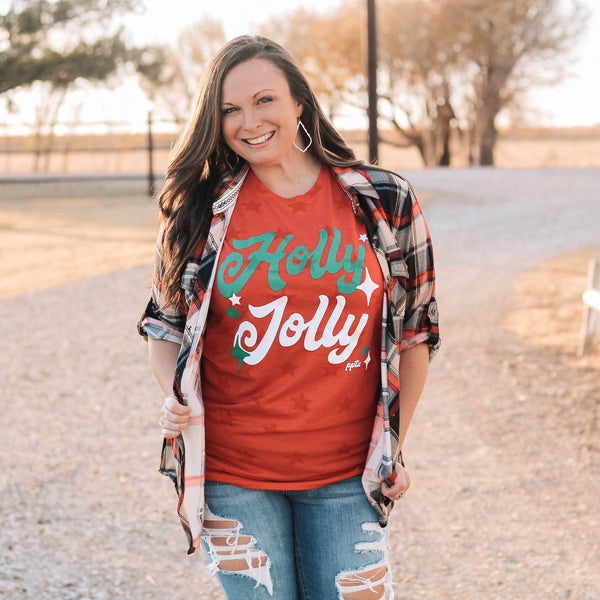 Graphic Tees - Holly Jolly Star Unisex Fit Graphic Tee