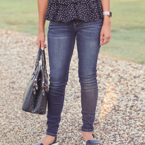 Judy Blue Darkwash Skinny Jeans - Southern Mess Boutique