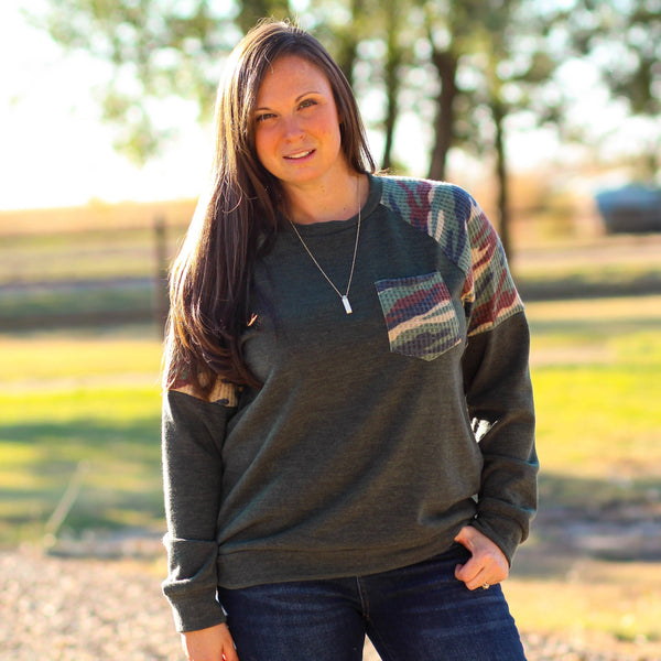 Karnes City Thermal Long Sleeve Top In Green Camo