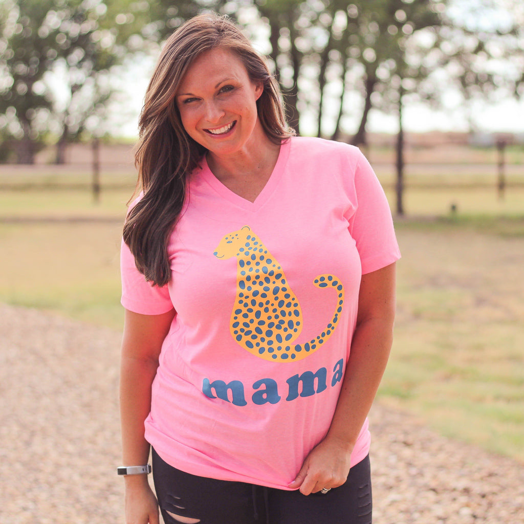 Graphic Tees - Cheetah Mama Unisex Fit Graphic Tee