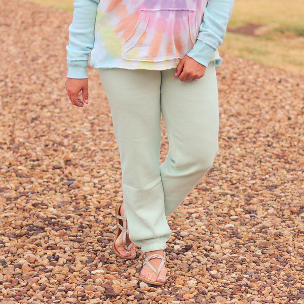 Bottoms - Beach Mint Fleece Joggers