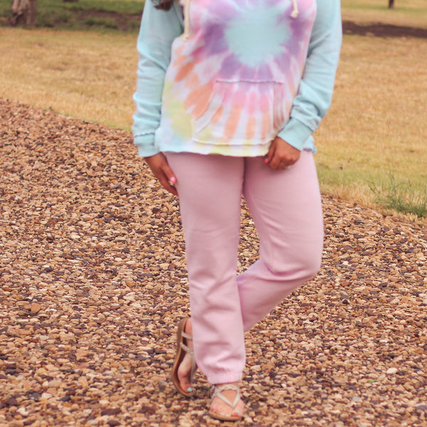 Bottoms - Beach Orchid Fleece Joggers