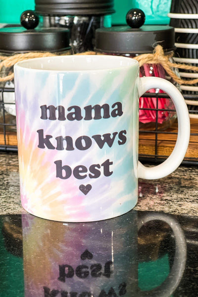 Drinkware - Mama Knows Best Watercolor Ceramic Coffee Mug