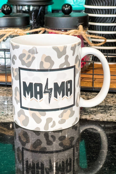 Drinkware - Mama Leopard Lightning Bolt Ceramic Coffee Mug