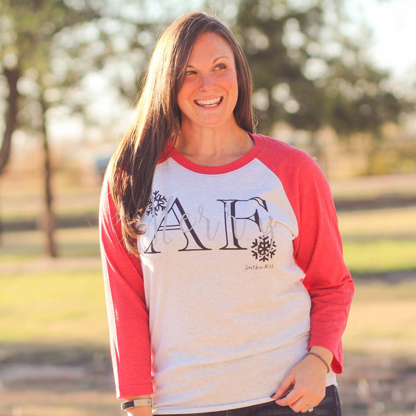 Merry AF Unisex Raglan - Southern Mess Boutique