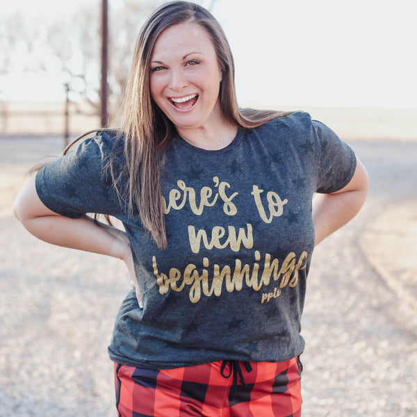 Graphic Tees - Here's To New Beginnings Unisex Fit Graphic Tee