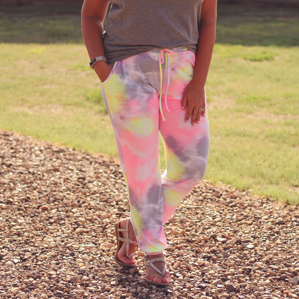 Bottoms - Paige Tie Dye Lounge Wear Joggers