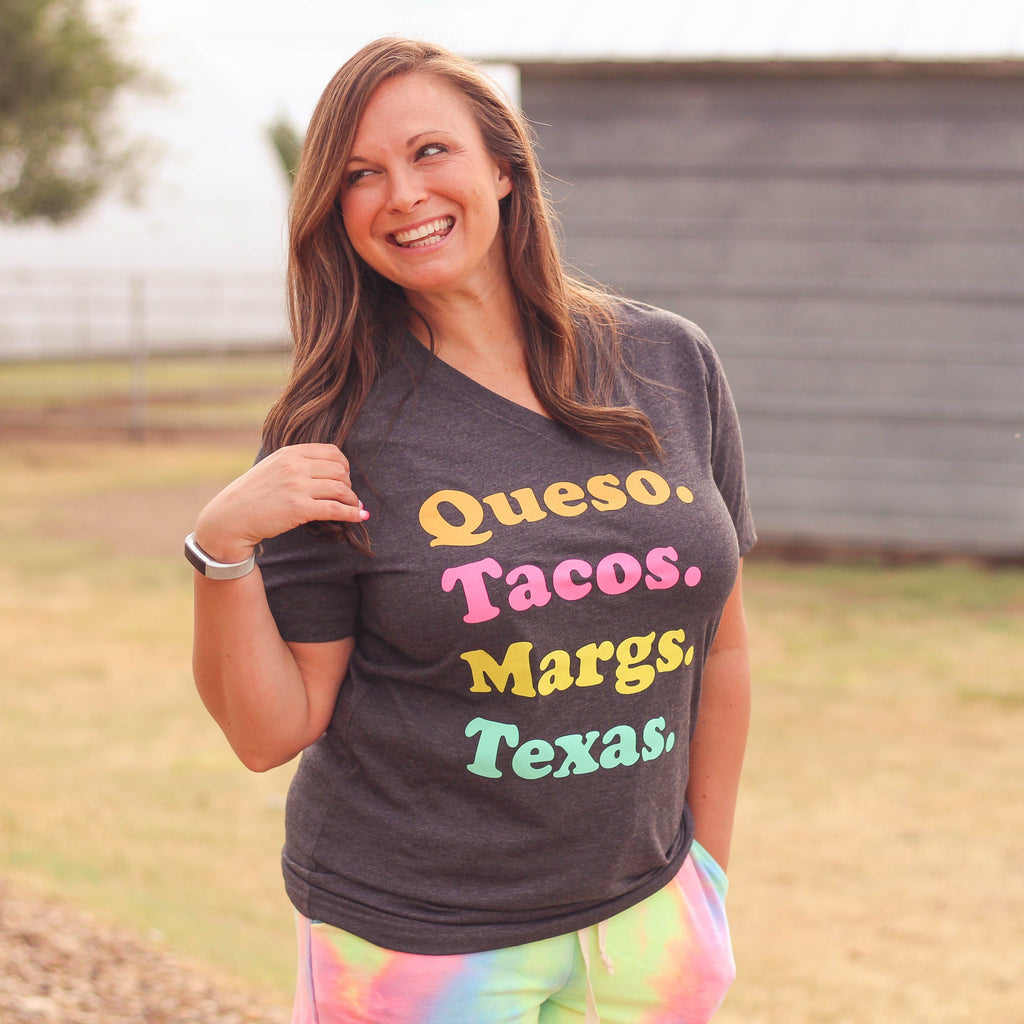 Graphic Tees - Queso.Tacos.Margs.Texas Unisex Fit Graphic Tee