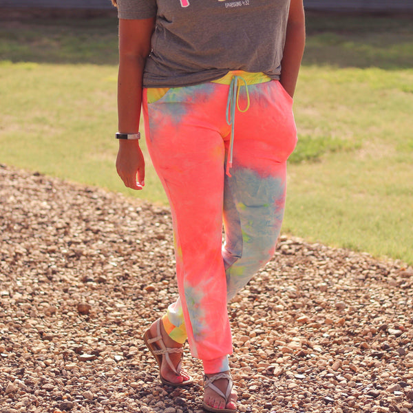 Bottoms - Savanna Bright Tie Dye Joggers