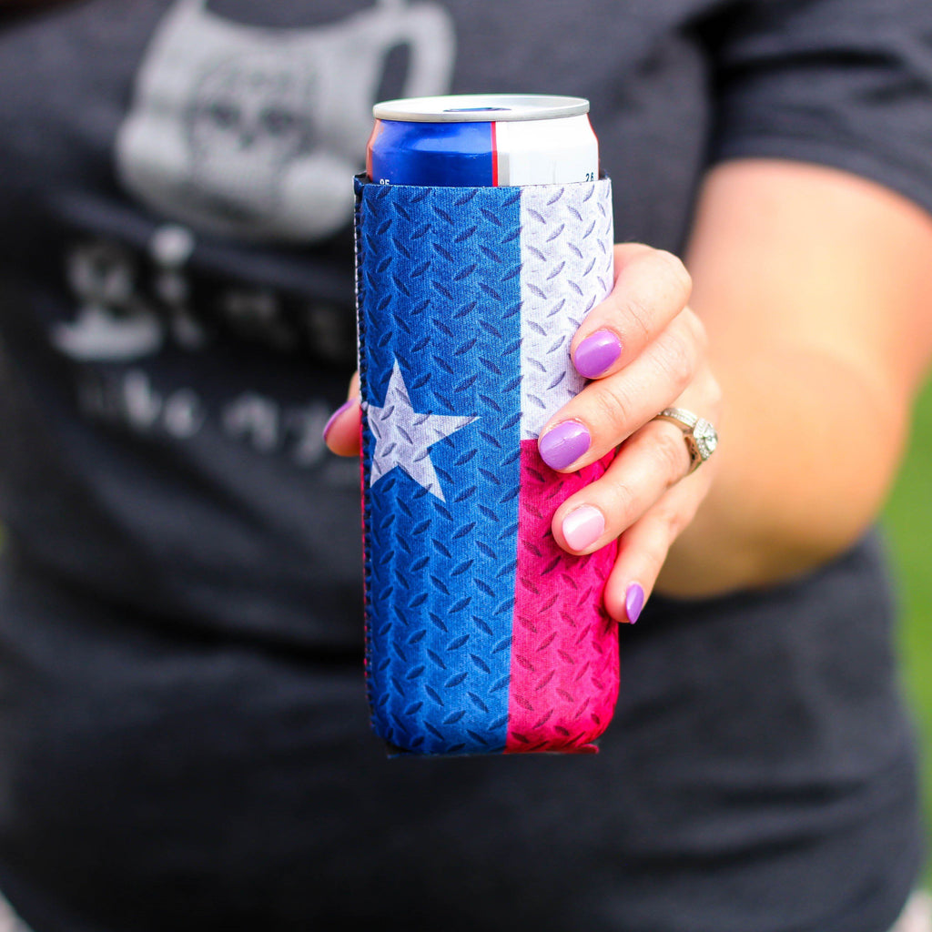 Can Cooler - Slim Can Cooler In Texas Flag