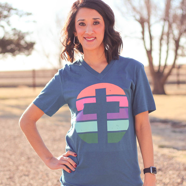 Holiday - Sunset Cross Unisex Fit Graphic Tee