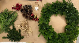 Do it yourself holiday wreath kit