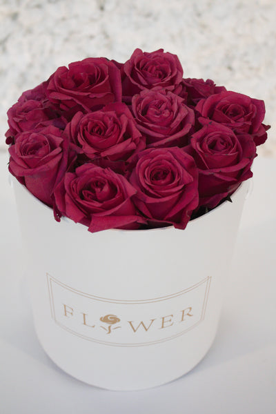 hot pink rose box
