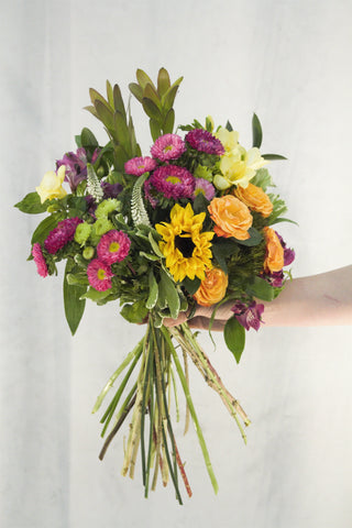 cheerful hand tied bouquet