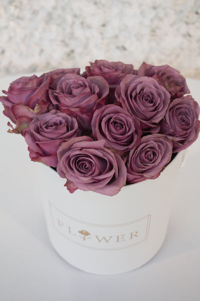 purple rose hat box