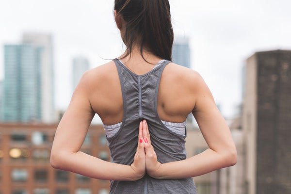 Yoga & pilates lady grey vest - so sweaty blog