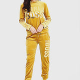 Mustard Girl Boss Pants & Top Set SO SWEATY