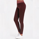 Workout Leggings - Bordeaux