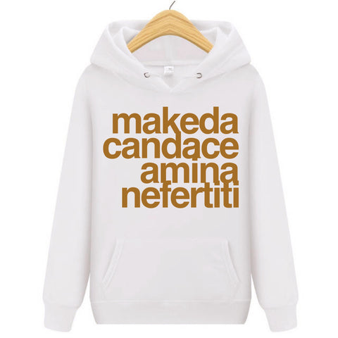 Queens Of Africa Hoodie - White