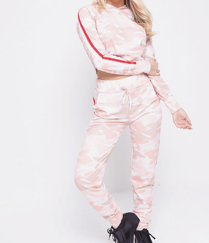 Pink Camo Pants & Hoodie Set SO SWEATY
