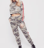 Khaki Camo Pants & Hoodie Set SO SWEATY
