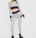 Grey Snake Pants & Crop Top Set SO SWEATY