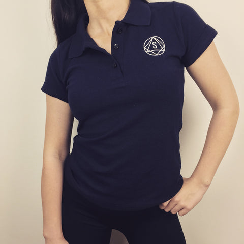 Navy original Polo T-shirt by So Sweaty women's activewear