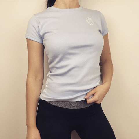 Workout Tee by SO SWEATY- Light Blue