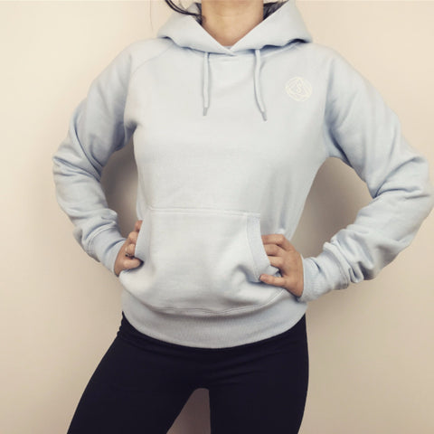 Contour Hoodie - Hooded Jumper Light Blue - Women's Active Clothing