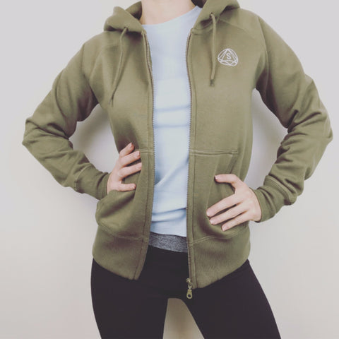 Premium Khaki Hoodie  - Khaki Green SO SWEATY