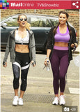 Jessica wright wearing So Sweaty Sports Bra & Workout Leggings Purple in Daily Mail Newspaper