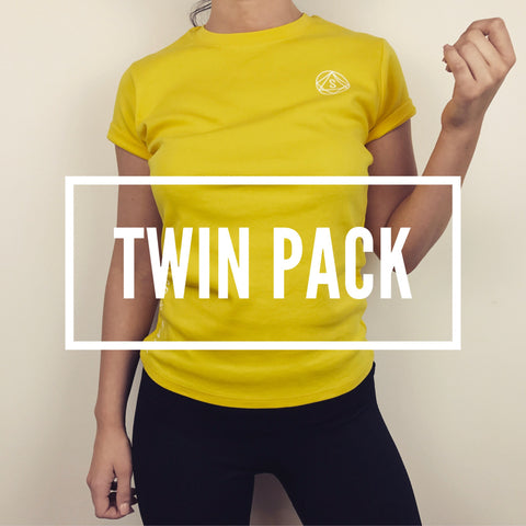 Twin Pack Special Workout Tee - Yellow SO SWEATY