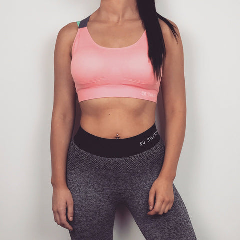 Studio Workout Bra  - Coral