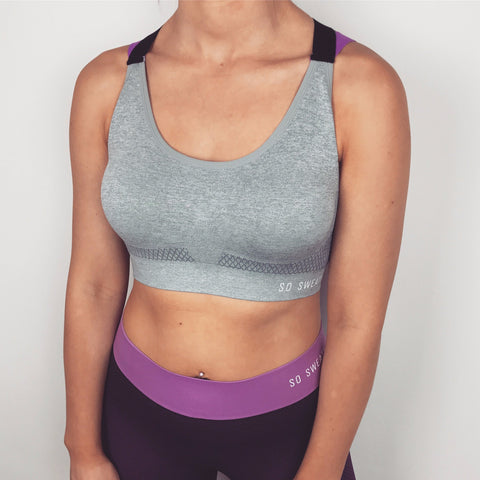 Studio Workout Bra  - GREY SO SWEATY
