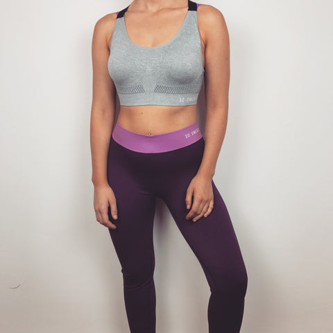 Workout Leggings - Purple SO SWEATY