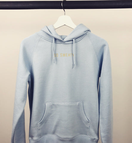 Premium Hoodie - Gold Editon - Light Blue SO SWEATY
