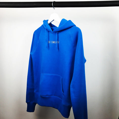 Premium Hoodie - Gold Edition - Blue SO SWEATY