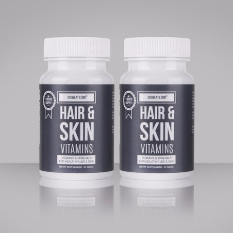 Hair and Skin Vitamins - Twin Pack SO SWEATY