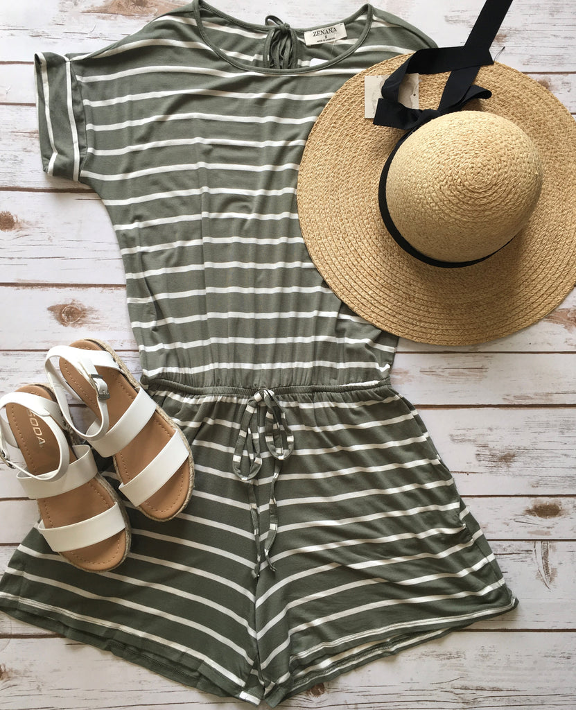 Nest Green Romper