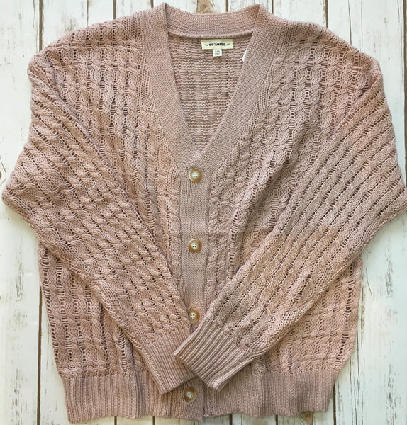 Knitted Blush Cardigan