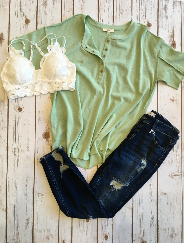Light Green Oversized Tee