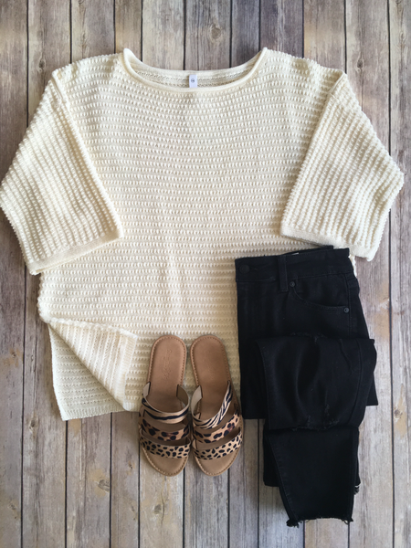 3 Quarter Sleeve Sweater