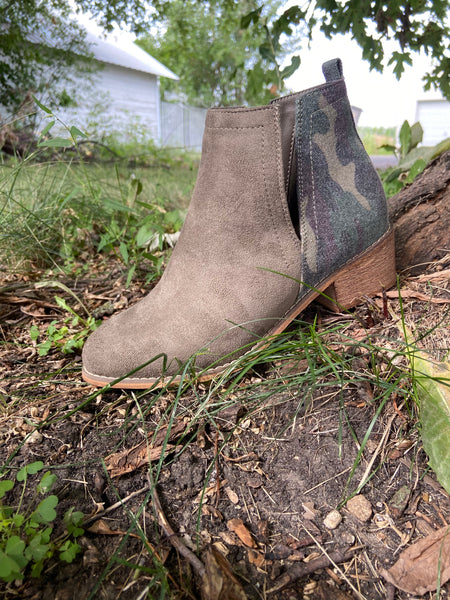 Shield Heeled Bootie