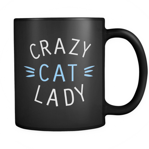Crazy Cat Lady Mug (Black)