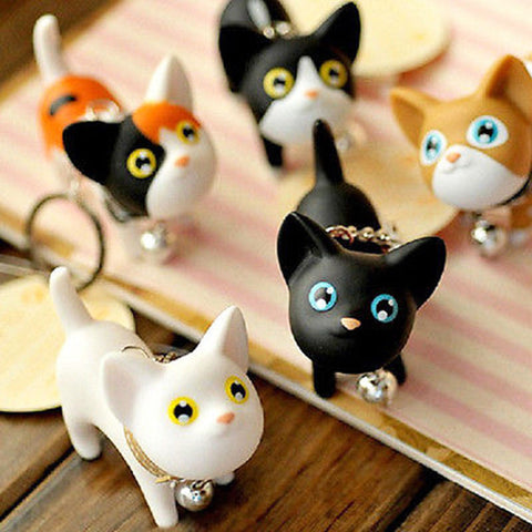 5 Little Cat Keychains